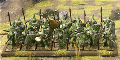 Tyrosaur  Warriors with Spears