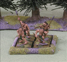 2 Ranks of 2 Figures on 25mm Square Bases