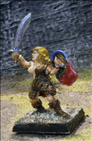 Female Barbarian on Foot