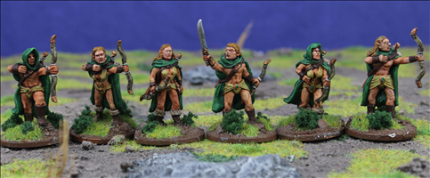 Elven Warrions with Longbows