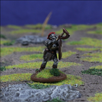 Orc Warrior 5 with Axe & Shield - Front view