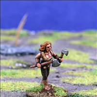 Female Warrior 1 with Dual Hand Weapons