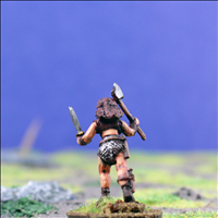 Female Warrior 2 with Dual Hand Weapons - Rear View