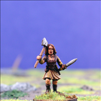 Female Warrior 3 with Dual Hand Weapons
