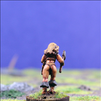 Female Warrior 4 with Dual Hand Weapons - Rear View