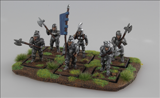 Knight, Standard Bearer & Guard