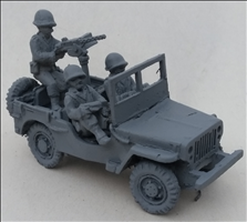 Recce jeep with 30. Cal