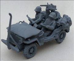 Army Jeep with wire cutter