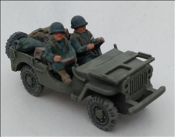 Army Jeep with cargo