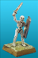 Unarmoured Skeleton Champion - Front View