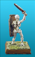 Unarmoured Skeleton Champion - Rear View