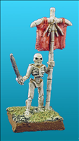Unarmoured Skeleton Standard Bearer - Front View
