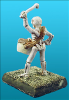 Unarmoured Skeleton Musician - Back View