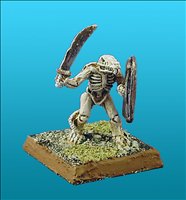 Unarmoured Ratman Skeleton - Front View
